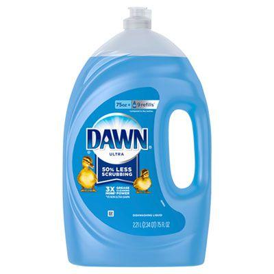 P&G 91451 Dawn Ultra Liquid Dish Detergent, 75 oz Bottle, Blue - 6 / Case