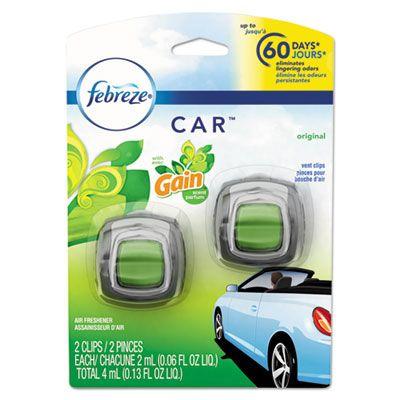 P&G 94731 Febreze CAR Air Freshener Clip, Gain Original Scent, 2 / Pack - 8 / Case