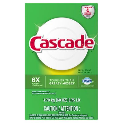 P&G 95787 Cascade Automatic Dishwasher Detergent Powder, Fresh Scent, 60 oz Box - 6 / Case
