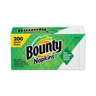 P&G 96595 Bounty Quilted Paper Napkins, 1 Ply, White - 1600 / Case