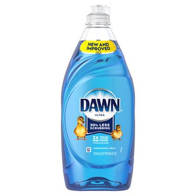 P&G 97305 Dawn Ultra Manual Dish Detergent Liquid, Original Scent, 19.4 oz Bottle - 10 / Case