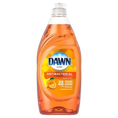 P&G 97318 Dawn Ultra Antibacterial Liquid Dish Detergent, Orange Scent, 28 oz Bottle - 8 / Case