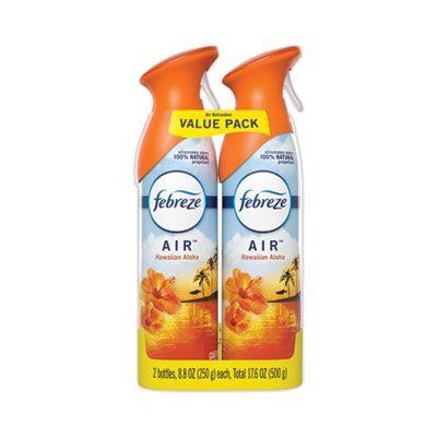 P&G 97794 Febreze AIR Freshener Spray, Hawaiian Aloha Scent, 8.8 oz Aerosol, 2 / Pack - 6 / Case