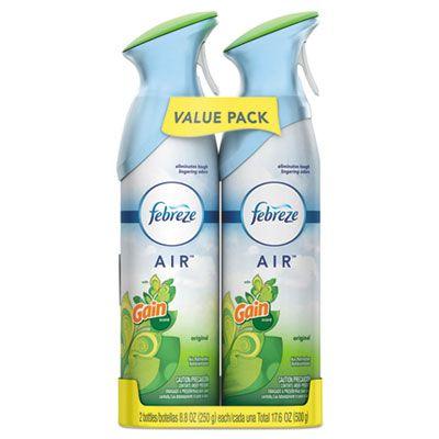 P&G 97810 Febreze Air Freshener, Gain Scent, 8.8 Aerosol Spray - 12 / Case