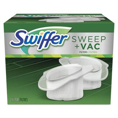 P&G 99196 Swiffer Sweeper Sweep + Vac Cordless Vacuum Replacement Filter, OEM, 2 / Pack - 8 / Case