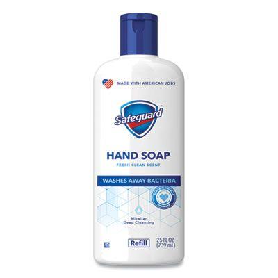 P&G 87850 Safeguard Liquid Hand Soap, Fresh Clean Scent, 25 oz Bottle - 4 / Case