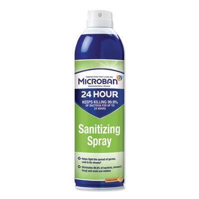 P&G 30130 Microban 24-Hour Disinfectant Sanitizing Spray, Citrus, 15 oz Can - 6 / Case