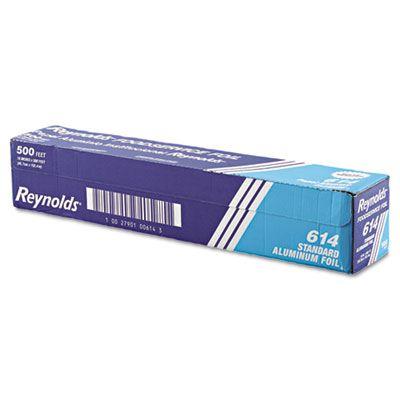 "Pactiv 614 Reynolds Aluminum Foil Roll, Standard, 18"" x 500', Silver - 1 / Case"