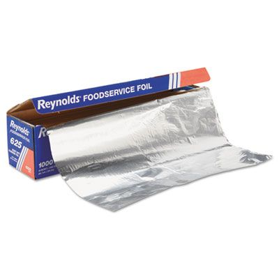 "Pactiv 625 Reynolds Aluminum Foil Roll, Heavy Duty, Cutter Box, 18"" x 1000' - 1 / Case"