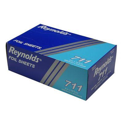 """Pactiv 711 Reynolds Aluminum Foil Sheets, 9"""" x 10.75"""" - 3000 / Case"""