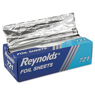 """Pactiv 721 Reynolds Aluminum Foil Sheets, 12"""" x 10.75"""" - 3000 / Case"""
