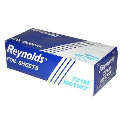"""Pactiv 721M Reynolds Aluminum Foil Sheets, 12"""" x 10.75"""" - 3000 / Case"""
