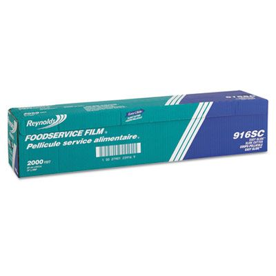 """Pactiv 916 Reynolds Foodservice Film Roll, PVC, Cutter Box, 24"""" x 2000', Clear - 1 / Case"""
