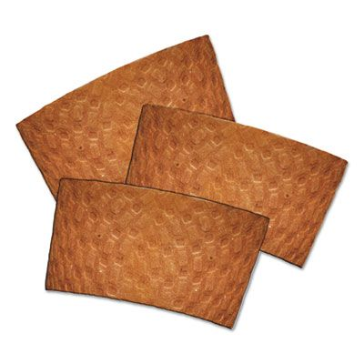 Pactiv DSLVBRN Dopaco Hot Cup Sleeves / Coffee Jackets for 10-24 oz Cups, Kraft Brown - 1000 / Case
