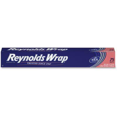 "Reynolds F28015 Aluminum Foil Roll, Standard, 12"" x 75', Silver - 35 / Case"