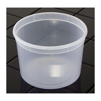 Pactiv L6064 DELItainer 64 oz Plastic Deli Tub, Polypropylene, Translucent - 120 / Case