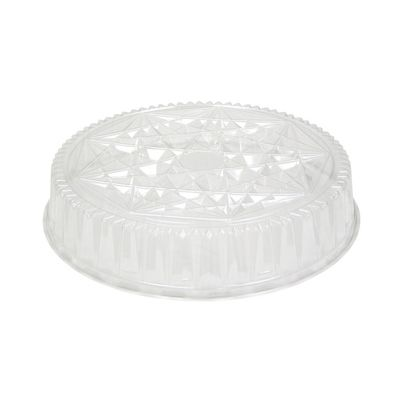 """Pactiv P4418 Dome Lid for Caterware 18"""" Trays, Clear - 50 / Case"""