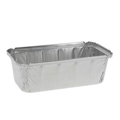 """Pactiv Y70845 2 lb Aluminum Foil Loaf Pan, 32 oz, 8"""" x 3.875"""" x 2.125"""" - 300 / Case"""