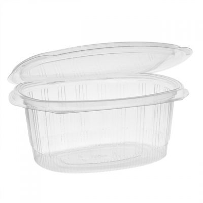 """Pactiv YCA910320000 EarthChoice 32 oz Plastic Hinged Lid Take Out Deli Container, Recycled PET, 7.31"""" x 5.88"""" x 3.25"""", Clear - 280 / Case"""