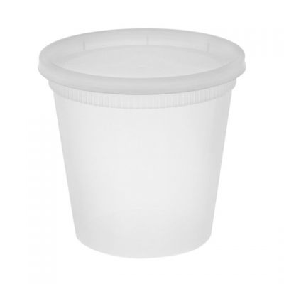 Pactiv YL2524 24 oz Deli Container & Lid Combo Packs, Polypropylene - 240 / Case