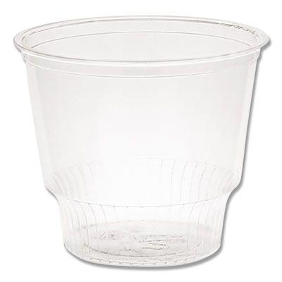 Pactiv YPS12C 12 oz Plastic Sundae Dish / Ice Cream Cup, Clear - 1000 / Case