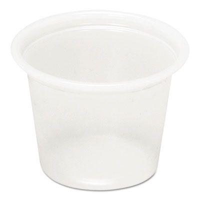 Pactiv YS100 1 oz Plastic Souffle / Portion Cups, Translucent - 5000 / Case