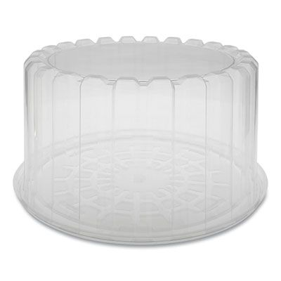"""Pactiv YCI898010000 ShowCake 8"""" Round Plastic Cake Container w/ Dome Lid, OPS, 9.25"""" x 5"""", Clear - 100 / Case"""