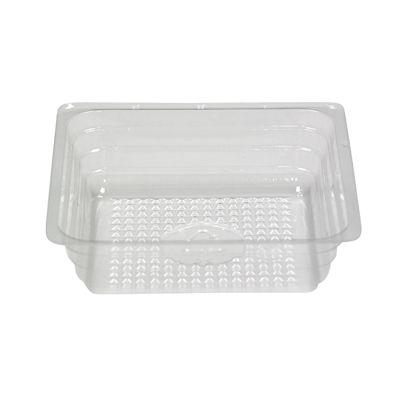 """Pactiv R4296 4 oz Square Plastic Portion Container, OPS, 3.5"""" x 3.5"""" x 1"""", Clear - 2500 / Case"""