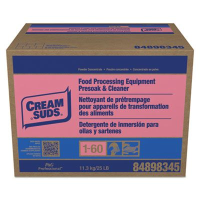 Joysuds 2100 Cream Suds Food Processing Equipment Presoak & Cleaner, Powder, 25 lb Box - 1 / Case