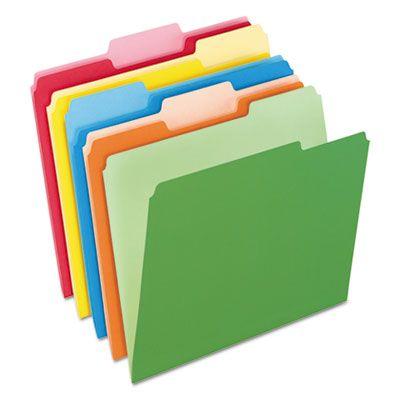 Pendaflex 15213ASST Colored File Folders, 1/3 Tab Cut, Letter Size, Assorted Colors - 100 / Case