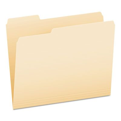 Pendaflex 75213 File Folder, 1/3 Cut Top Tab, 11 pt, Letter, Manila - 100 / Case