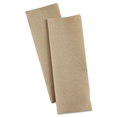 "Penny Lane 8202 Multifold Paper Hand Towels, 9.25"" x 9.5"", Brown - 4000 / Case"