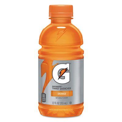 Pepsico 12937 Gatorade G-Series 02 Thirst Quencher Sports Drink, Orange, 12 oz Bottle - 24 / Case