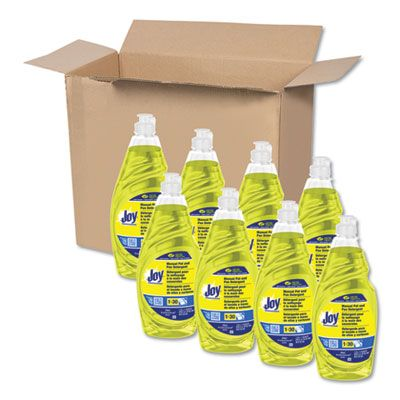 P&G 45114 Joy Dish Soap Liquid, Lemon Scent, 38 oz Bottle - 8 / Case