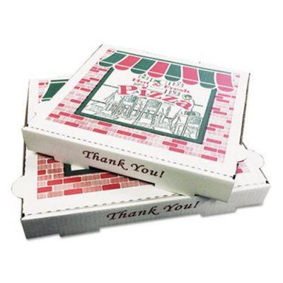 "General PZCORE12 Pizza Boxes, 12"" x 12"" x 1-3/4"", White - 50 / Case"