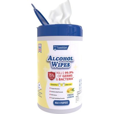 Pro Sanitize Hand Sanitizer Wipes with Alcohol, 80 / Canister - 6 / Case
