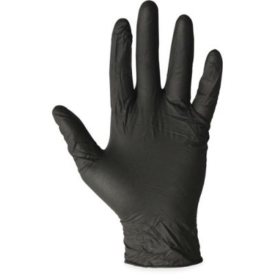 ProGuard 8642L Nitrile Gloves, Powder Free, Large, Black - 100 / Case