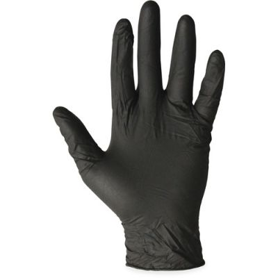 ProGuard 8642S Nitrile Gloves, Powder-Free, Small, Black - 100 / Case