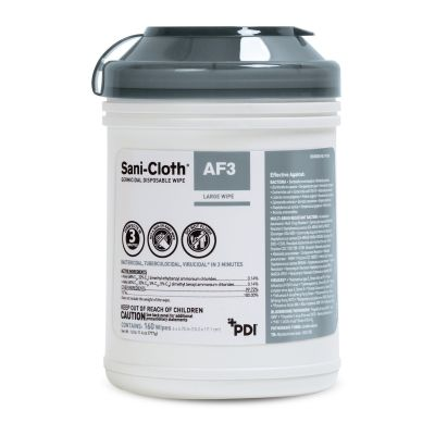 PDI P13872 Sani-Cloth AF3 Surface Germicidal Disinfectant Cleaner Wipes, Premoistened, Disposable, Mild Scent, NonSterile - 1920 / Case