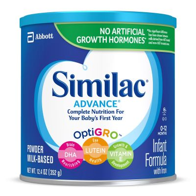 Abbott Nutrition 55957 Similac Advance 20 Infant Formula, Powder, 12.4 oz Can - 1 / Case