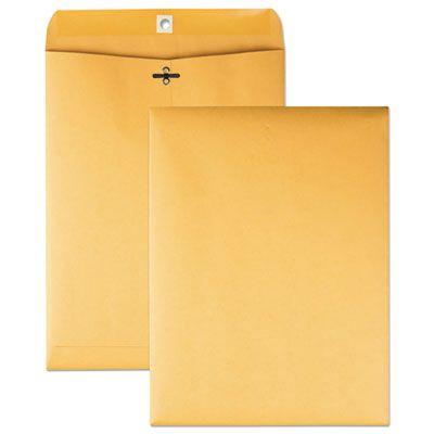 "Quality Park 37890 Clasp / Gummed Envelopes, #90, Cheese Blade Flap, 9"" x 12"", Golden Brown - 100 / Case"