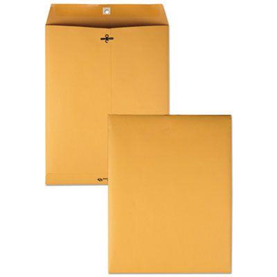 "Quality Park 37897 Clasp Envelope, #97, Cheese Blade Flap, Gummed Closure, 10"" x 13"", Golden Brown - 100 / Case"
