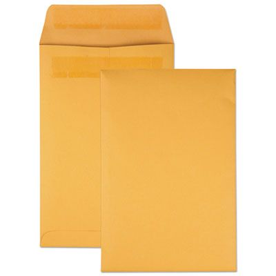 "Quality Park 43167 Redi-Seal Catalog Envelope, #1, Cheese Blade Flap, 6"" x 9"", Golden Brown - 100 / Case"