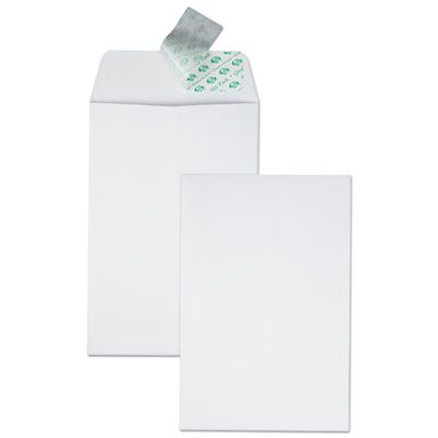 "Quality Park 44182 Redi-Strip Catalog Envelope, #1, Cheese Blade Flap, 6"" x 9"", White - 100 / Case"