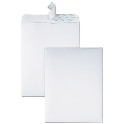 "Quality Park 44782 Redi-Strip Catalog Envelope, #13-1/2, Cheese Blade Flap, 10"" x 13"", White - 100 / Case"