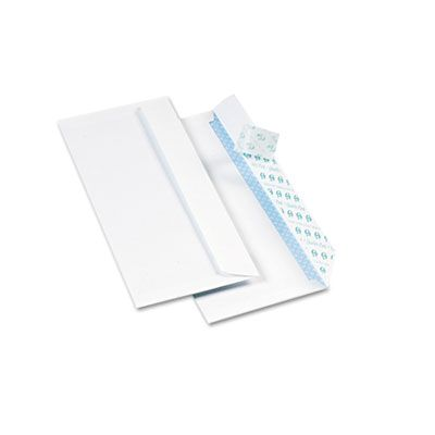 "Quality Park 69122 Redi-Strip Envelope, #10, Security Tint, Commercial Flap, 4.13"" x 9.5"", White - 500 / Case"