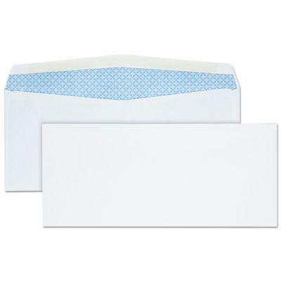 "Quality Park 90030 Business Envelope, #10, Security Tint, Commercial Flap, Gummed Closure, 4.13"" x 9.5"", White - 500 / Case"