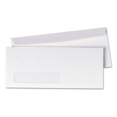 "Quality Park 90120 Window Business Envelope, #10, Commercial Flap, Gummed Closure, 4.13"" x 9.5"", White - 500 / Case"