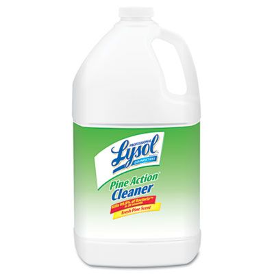 Reckitt Benckiser 2814 Lysol Pine Action Cleaner Disinfectant, Concentrate, 1 Gallon Bottle - 4 / Case
