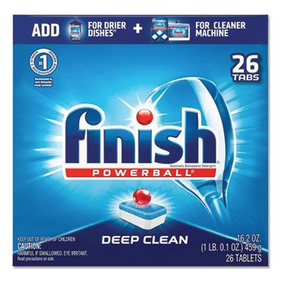 Reckitt Benckiser 20621 Finish Powerball Automatic Dishwasher Tabs, Deep Clean, 26 Tabs / Box, Fresh Scent - 8 / Case